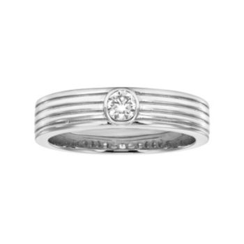 LOVE 360 14k White Gold 1/10 Carat T.W. Diamond Wedding Ring