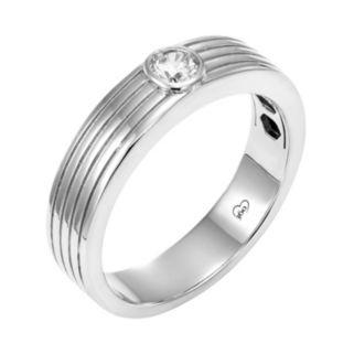 LOVE 360 14k White Gold 1/10 Carat T.W. Diamond Wedding Ring