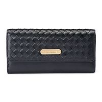 Women's Leatherbay Textured Tri-Fold Wallet
