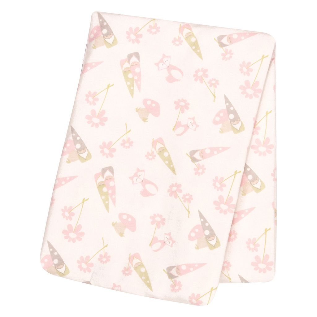 Trend Lab Gnomes Flannel Swaddle Blanket