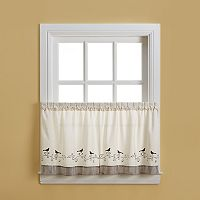 CHF Bird 2-pk. Tier Curtains
