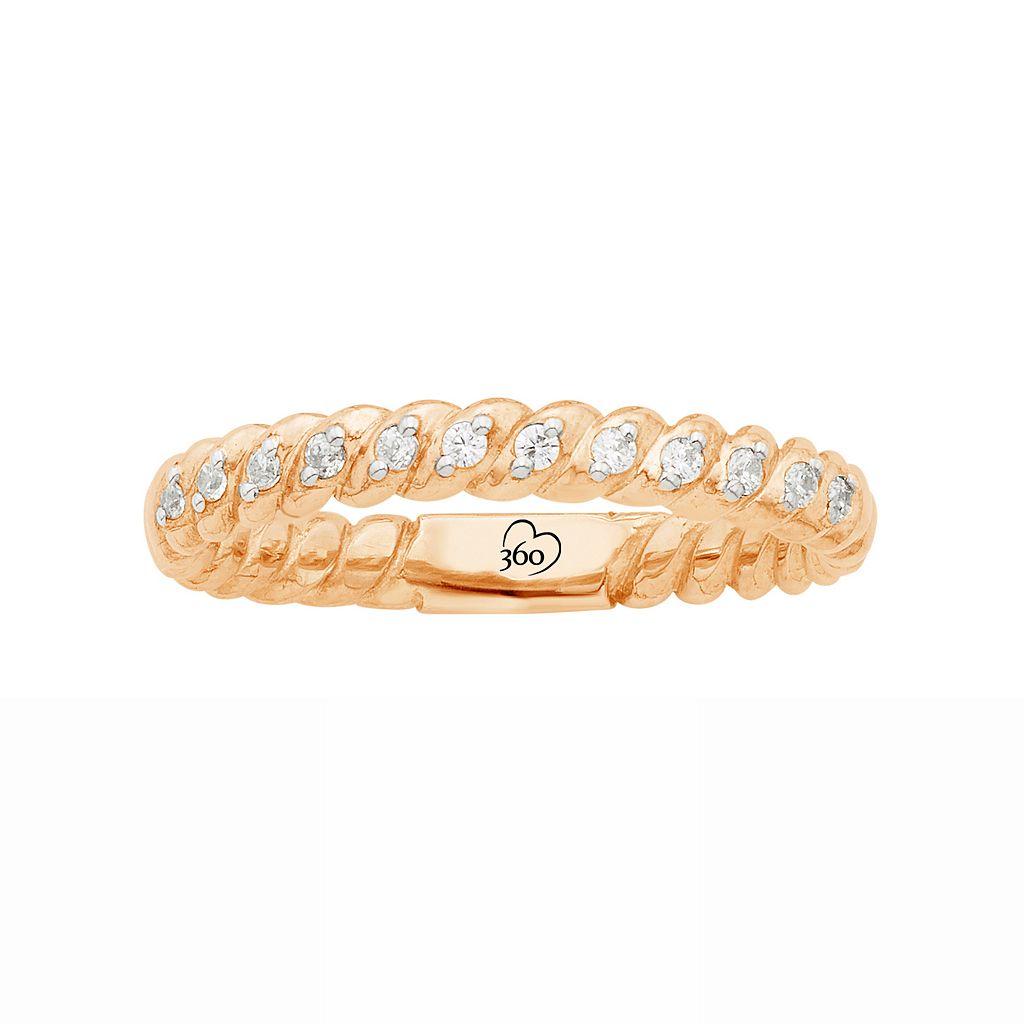 LOVE 360 14k Rose Gold 1/8 Carat T.W. Diamond Wedding Ring