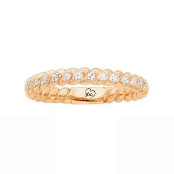 LOVE 360 14k Rose Gold 1/8 Carat T.W. Diamond Wedding Ring