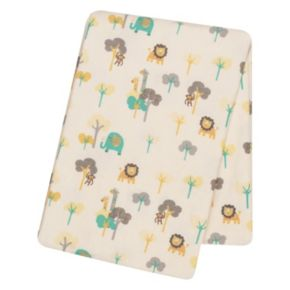 Trend Lab Zoo Animal Flannel Swaddle Blanket