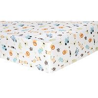 Trend Lab Zoo Animal Flannel Fitted Crib Sheet