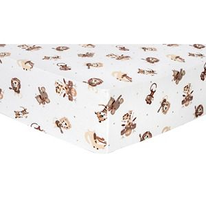 Trend Lab Zoo Animal Flannel Fitted Crib Sheet Kohls