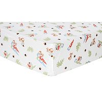 Trend Lab Gnome Flannel Fitted Crib Sheet