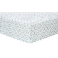 Trend Lab Quatrefoil Flannel Fitted Crib Sheet