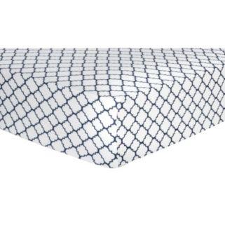 Trend Lab Quatrefoil Flannel Fitted Crib Sheet