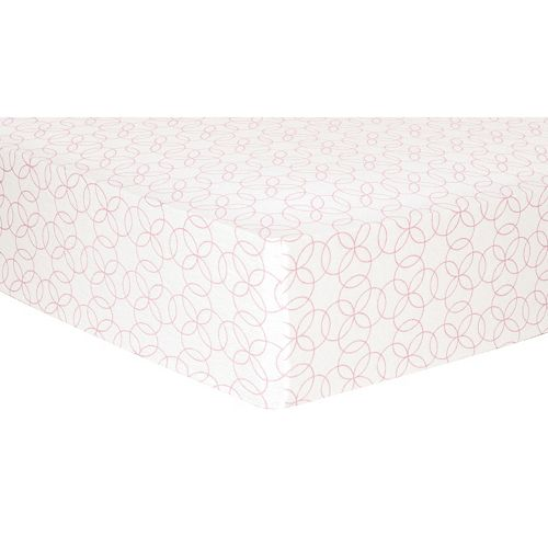Trend Lab Printed Flannel Fitted Crib Sheet
