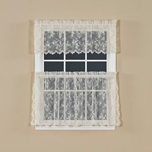 Saturday Knight, Ltd. Petite Fleur Tiered Window Curtain Set
