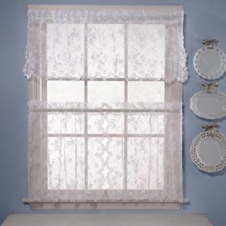 Saturday Knight, Ltd. Petite Fleur Tiered Window Curtain Set