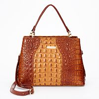 Leatherbay Andria Crocodile Convertible Satchel