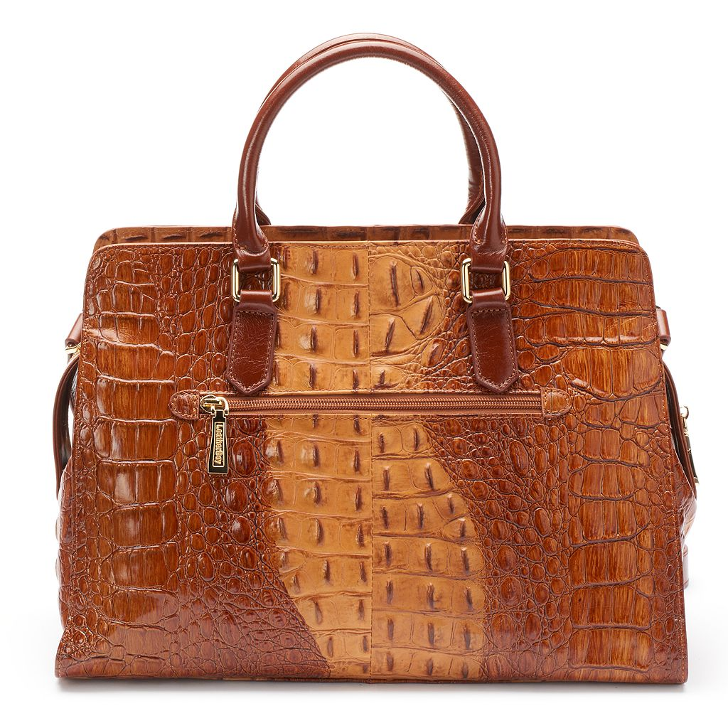 Leatherbay Campina Crocodile Convertible Satchel