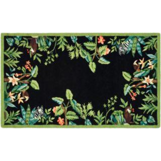 Safavieh Chelsea Jungle Trop Framed Floral Wool Rug