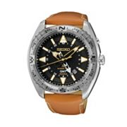 Seiko Men's Prospex Leather Kinetic Watch - SUN055