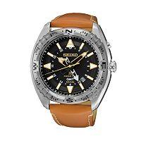 Seiko Men's Prospex Leather Kinetic Watch - SUN055