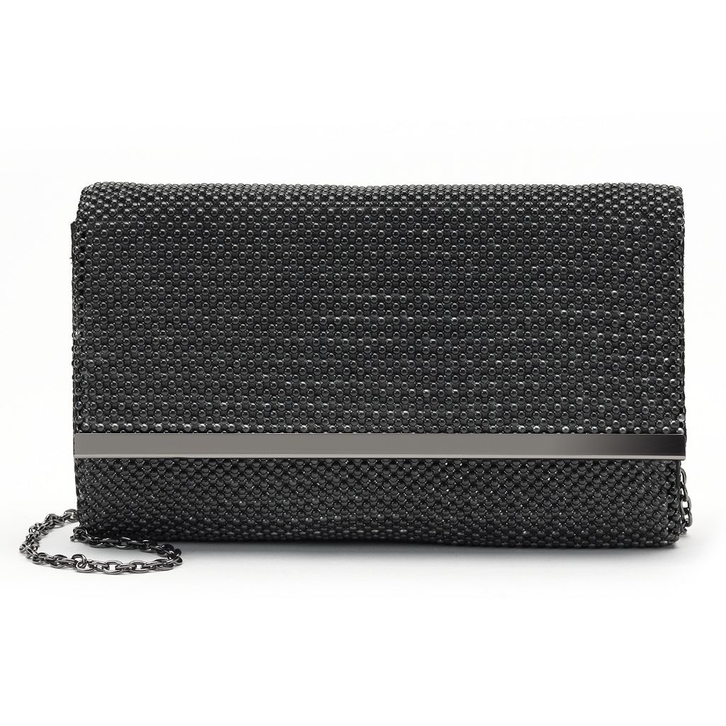 Lenore by La Regale Ball Mesh Crossbody Bag