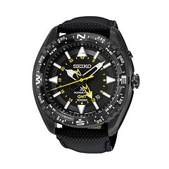 Seiko Men's Prospex Leather Kinetic Watch - SUN057