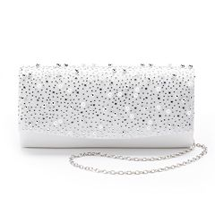Lenore by La Regale Crystal Beaded Metallic Clutch