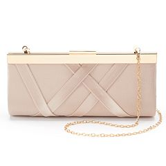Lenore by La Regal Crisscross Satin Clutch