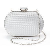 Lenore by La Regale Satin Ribbon Minaudiere Clutch