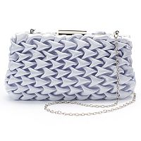 Lenore by La Regale Gathered Satin Clutch