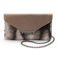 Lenore by La Regale Faux-Fur Flap Crossbody Bag