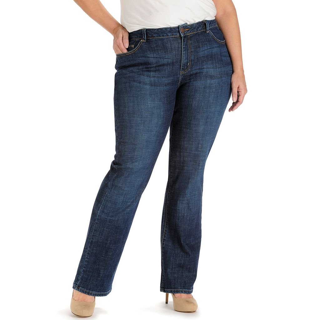 Plus Size Lee Curvy Bootcut Jeans