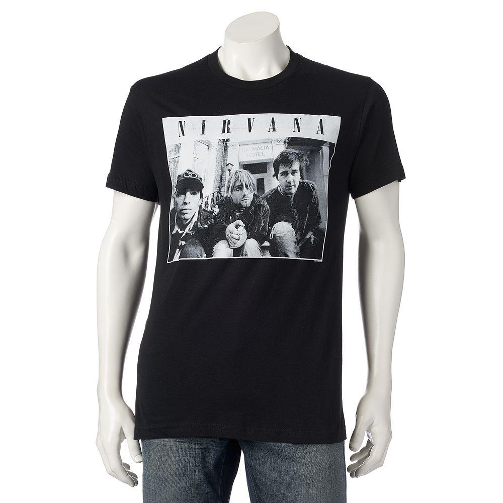 Black t shirts kohls - Men S Nirvana Photo Tee