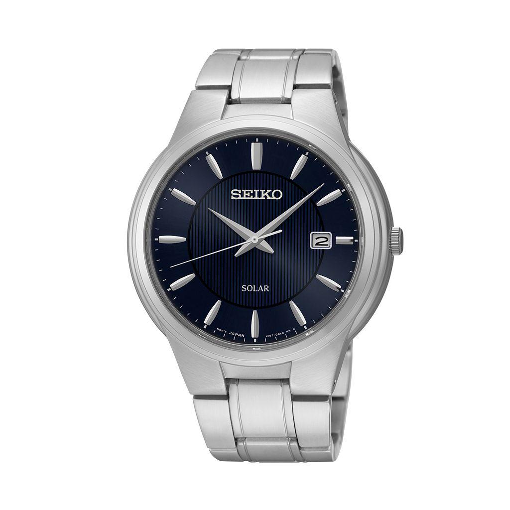 Seiko Men's Core Stainless Steel Solar Watch - SNE403