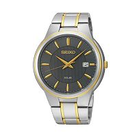 Seiko Men's Core Two Tone Stainless Steel Solar Watch - SNE404