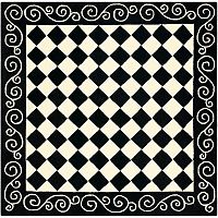 Safavieh Chelsea Checkerboard Framed Wool Rug