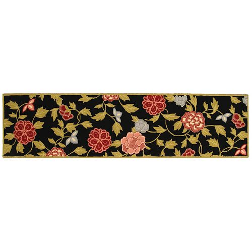 Safavieh Chelsea English Rose Framed Floral Wool Rug Runner - 2'6'' x 10'
