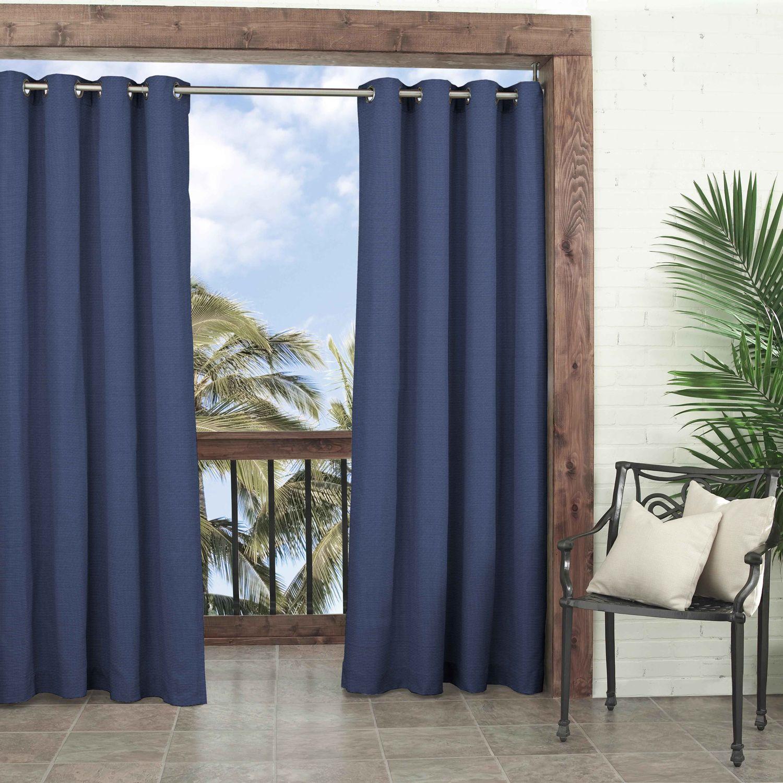 Parasol 1 Panel Key Largo Indoor Outdoor Curtain