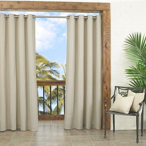 Waverly 1-Panel Sun n Shade Key Largo Indoor Outdoor Curtain