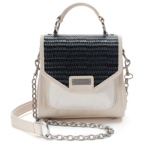 Adrienne Landau Mini Leather Satchel