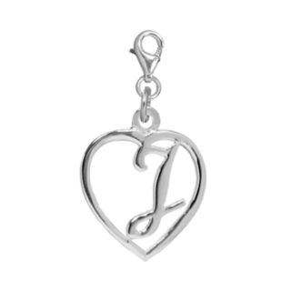 Individuality Beads Sterling Silver Heart Initial Charm