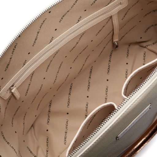Adrienne Landau Calypso Nolita Tri-Tone Leather Satchel