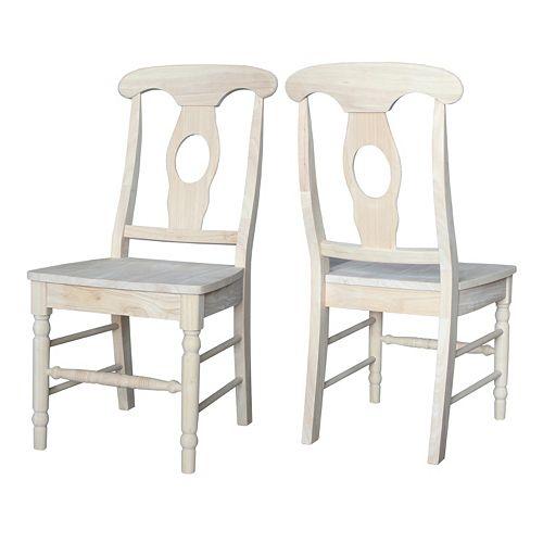 International Concepts 2-piece Empire Chair Set