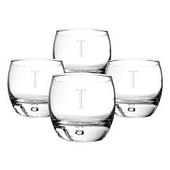 Cathy's Concepts 4-pc. Monogram Double Old-Fashioned Glass Set