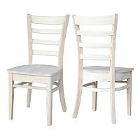 International Concepts 2-piece Emily Side Chair Set