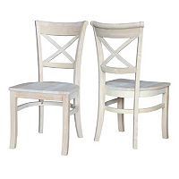 International Concepts 2-piece Charlotte X-Back Chair Set