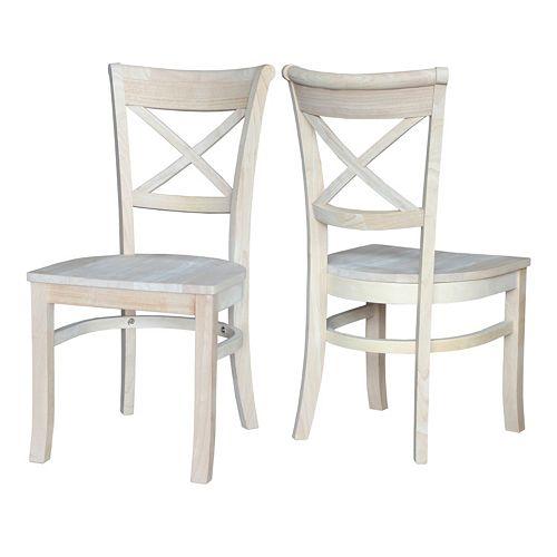 International Concepts 2-piece Charlotte X-Back Chair Set