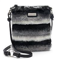 Adrienne Landau Striped Faux-Fur Crossbody Bag