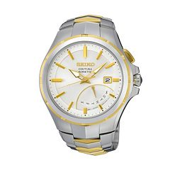 Seiko Men's Coutura Two Tone Stainless Steel Kinetic Watch - SRN064