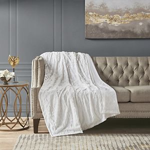 Madison Park Madison Park Lilly Faux Fur Fringe Throw