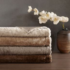 Madison Park Signature Geneva Luxury Faux-Fur Throw
