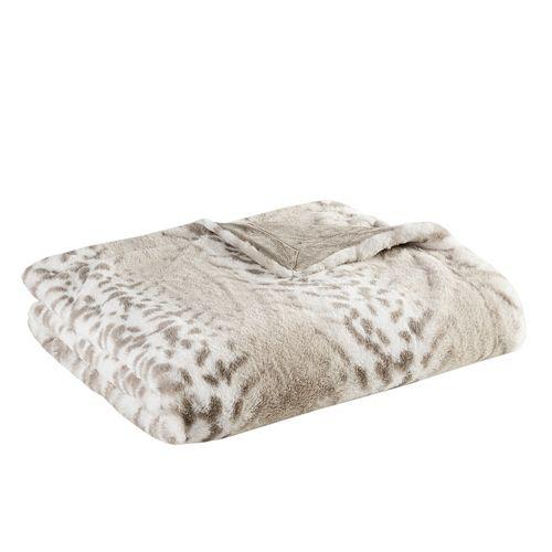 Madison Park Signature Geneva Luxury Faux-Fur Throw