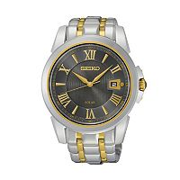 Seiko Men's Le Grand Sport Two Tone Stainless Steel Solar Watch - SNE398